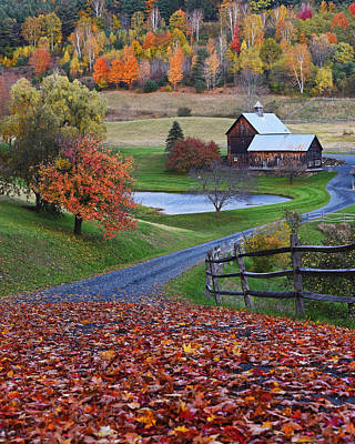 Photograph - Sleepy Hollows Farm Woodstock Vermont Vt by Toby McGuire