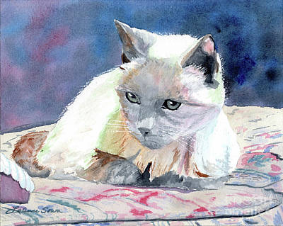 Painting - Sleepy Kitty by LeAnne Sowa