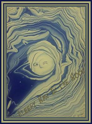 Sleepy Man In The Moon Art Print
