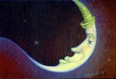 Painting - Sleepy Moon by Suzn Art Memorial