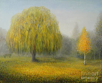 Meadow Willows Painting - Sleepy Morning by Kiril Stanchev