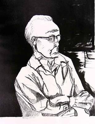 Brad Wilson Drawing - Sleepy Old Man by Brad Wilson