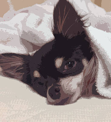 Acrylic Painting - Sleepy by Roro Rop