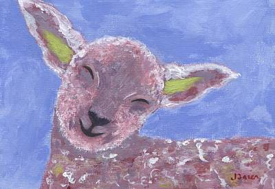 Painting - Sleepy Sheepy by Jamie Frier