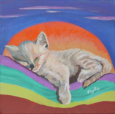 Art Print featuring the painting Sleepy Time by Phyllis Kaltenbach