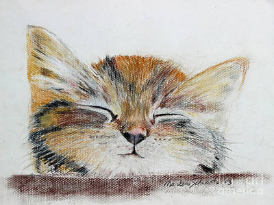 Painting - Sleepyhead by Marlene Schwartz Massey