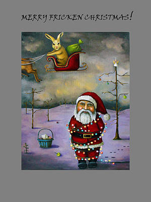 Santa Claus Painting - Sleigh Jacker For Christmas by Leah Saulnier The Painting Maniac