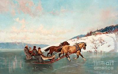 Painting - Sleigh Ride by Axel Ender