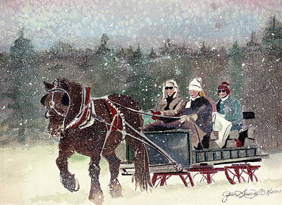 Painting - Sleigh Ride by Jean Sumption