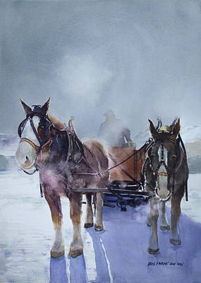 Teton Painting - Sleigh Ride by Kris Parins