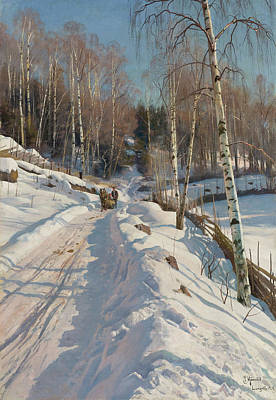 Painting - Sleigh Ride On A Sunny Day by Mountain Dreams