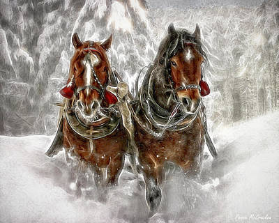 Digital Art - Sleigh Ride by Pennie McCracken