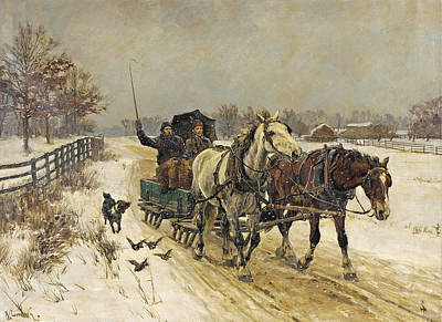 Richard Lorenz Painting - Sleigh Ride by Richard Lorenz