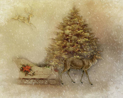 Digital Art - Sleigh Ride by TnBackroadsPhotos