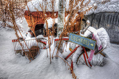 Photograph - Sleigh Rides by Richard Bean