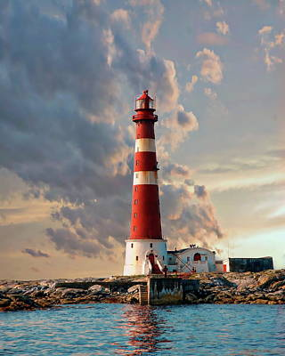 Photograph - Sletringen Lighthouse by Anthony Dezenzio