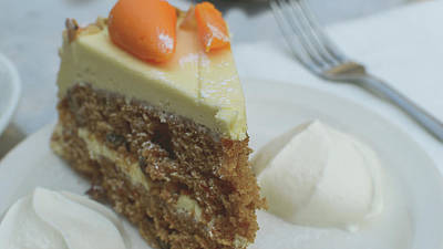 Photograph - Slice Of Carrot Cake With Cream B by Jacek Wojnarowski
