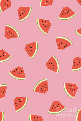 Watermelon Drawing - Slice Of Life by Elizabeth Tuck