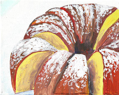 Painting - Sliced Bundt Cake by Paul Thompson