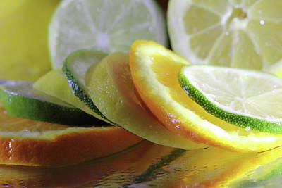 Photograph - Sliced Citrus by Angela Murdock