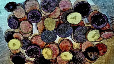 Sliced Finger Potatoes Art Print by Mark Victors
