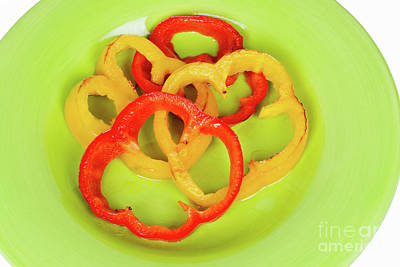 Photograph - Sliced Grilled Red And Yellow Bell Peppers by Vizual Studio