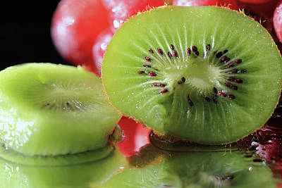 Photograph - Sliced Kiwi by angela Murdock