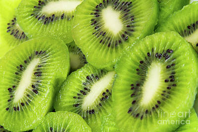 Photograph - Sliced Kiwi Food Background by Vizual Studio