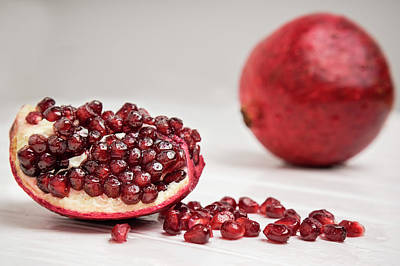 Photograph - Sliced Pomegranate by Bets Wilson