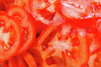 Photograph - Sliced Red Tomatoes by SR Green
