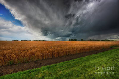 Prairie Storm Photograph - Slices Of Saskatchewan by Ian McGregor