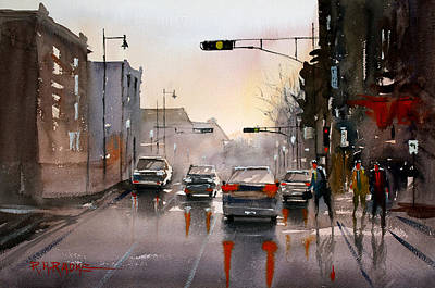 Painting - Slick Streets by Ryan Radke