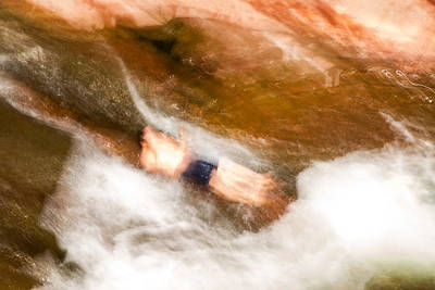 Photograph - Slide Rock Slide In Motion by Bonnie Follett