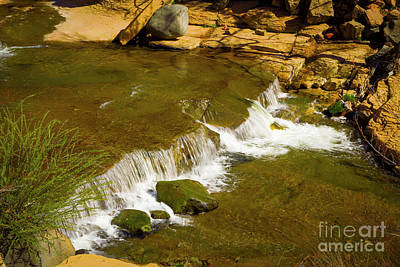 Photograph - Slide Rock Waterfall by Jon Burch Photography