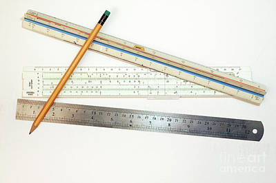Proportionality Wall Art - Photograph - Slide, Scale And Regular Rulers by Gady Cojocaru