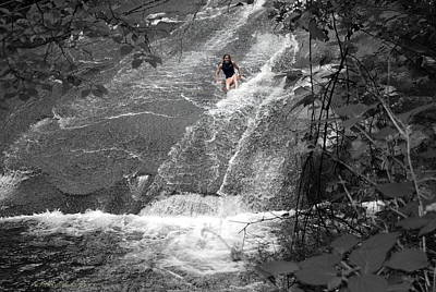 Photograph - Sliding Rock Girl by Kathy Barney