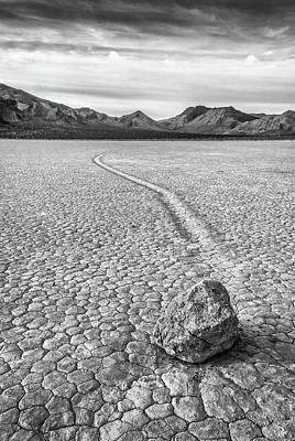 Sliding Stone, Racetrack Playa Art Print