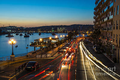 Maltese Photograph - Sliema Nights  by Rob Hawkins