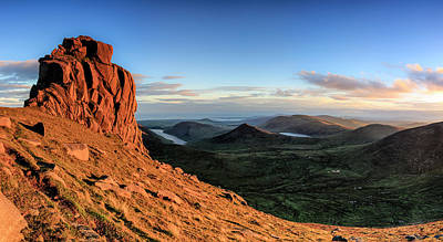 Photograph - Slieve Bearnagh Rusty Golden Sunset by Glen Sumner