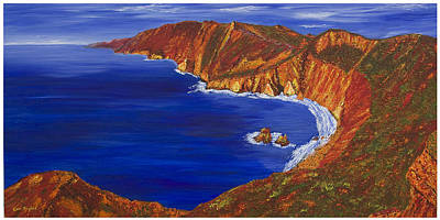 Wall Art - Painting - Slieve League Donegal by Carl Taylor