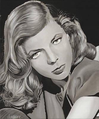 Lauren Bacall Painting -  Slim by Daniel Brauer