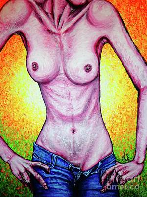 Painting - Slim Model by Viktor Lazarev