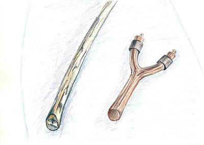 Slingshot Drawing - Slingshot by Yana Sadykova
