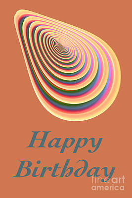 Digital Art - Slinky - Happy Birthday Card 2 by Wendy Wilton