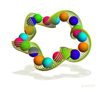 Digital Art - Slinky Spheres by Dan Bach