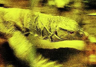 Digital Art - Slippery Lizard by Ronald Irwin