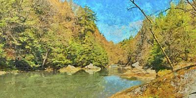 Digital Art - Slippery Rock Creek by Digital Photographic Arts