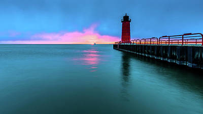 Photograph - Sliver Of Sunrise by Randy Scherkenbach