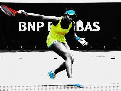 Venus Williams Mixed Media - Sloane Stephens by Brian Reaves
