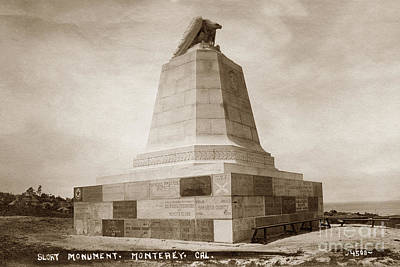 Photograph - Sloat Monument On The Presidio Of Monterey Circa 1910 by California Views Mr Pat Hathaway Archives